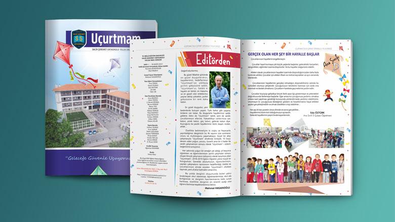 Okul Dergisi baskısı ve tasarımı