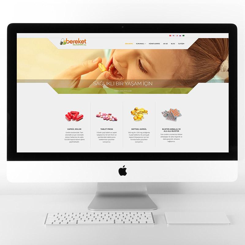 Bereket ilaç web sitesi