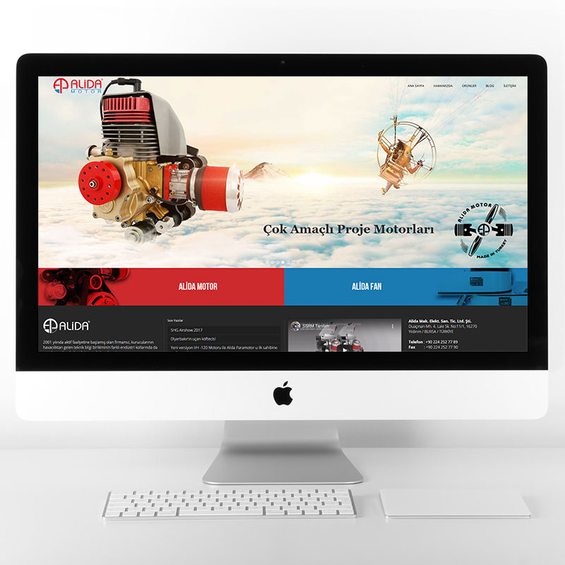 Alida Motor Web Sitesi