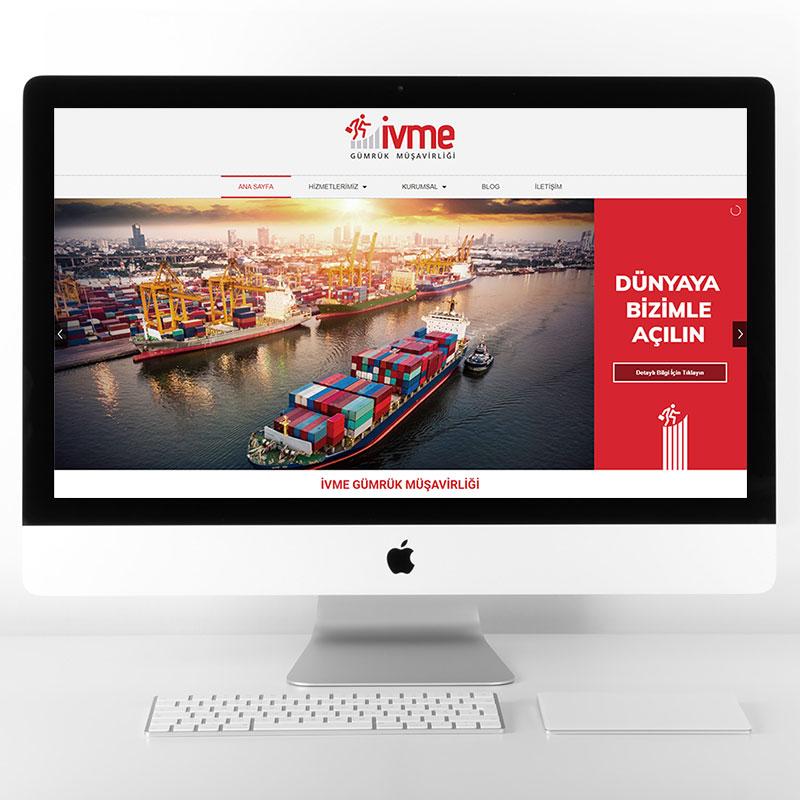 ivme gümrük web sitesi tasarımı